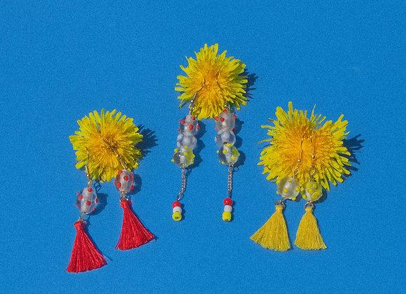 Ketchup & Mustard Beaded Dangle Earring Set