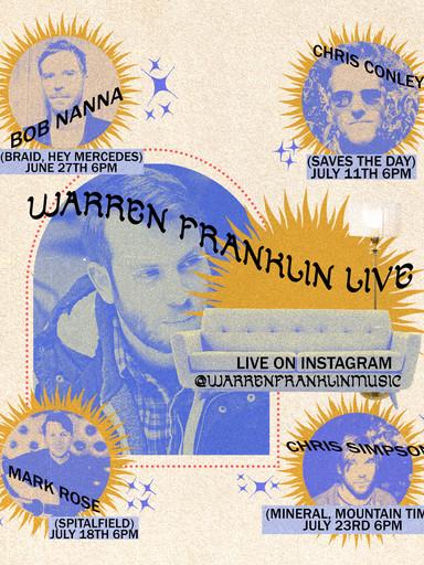 Live Music Poster for Warren Franklin
