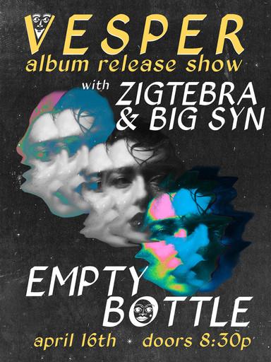 Vesper Poster for Album Release at Empty Bottle