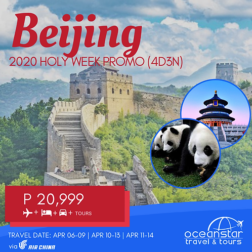 BEIJING HOLYWEEK TOUR PACKAGE
