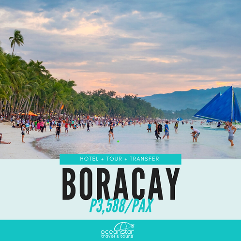 BORACAY PACKAGE (3days/2nights)