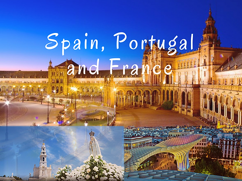 Spain, Portugal and France