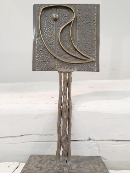 Patinated bronze