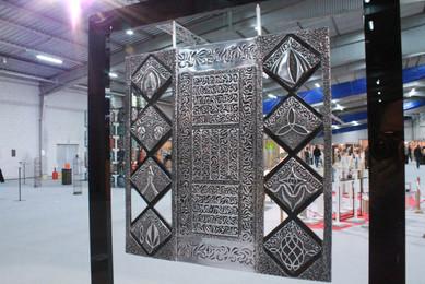 """""""Révélation á Por Carn""""  & """"Impression à Kérity""""   Plaque aluminium surfin suspendue sur cadre Altuglas noir  60x56cm"""