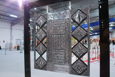 """Revelation at Por Carn"" & ""Impression at Kérity""   Aluminium panel Suspended on a black Altuglas frame  60x56cm"