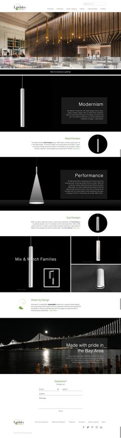 Lindsley Lighting home page