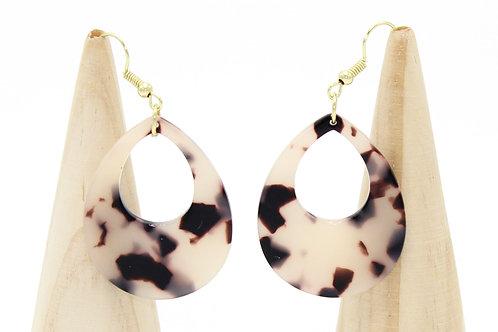 Tortoiseshell Teardrops Earrings