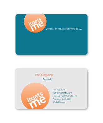 It Gets Me business card