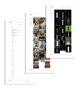 Lindsley Lighting gallery and sales rep pages