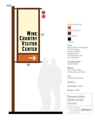 Sonoma Valley Visitors Bureau signage