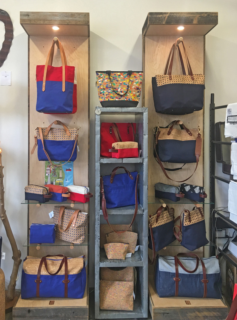 Spicer Bags display