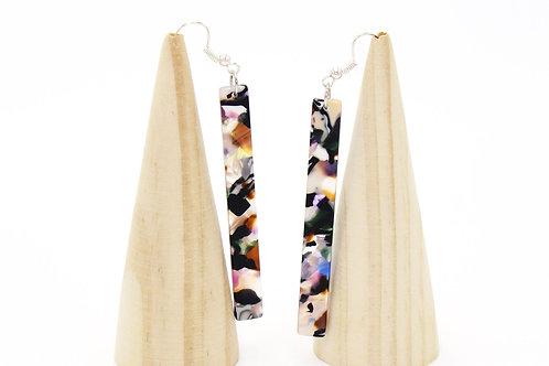 Multi-colored Bar Earring
