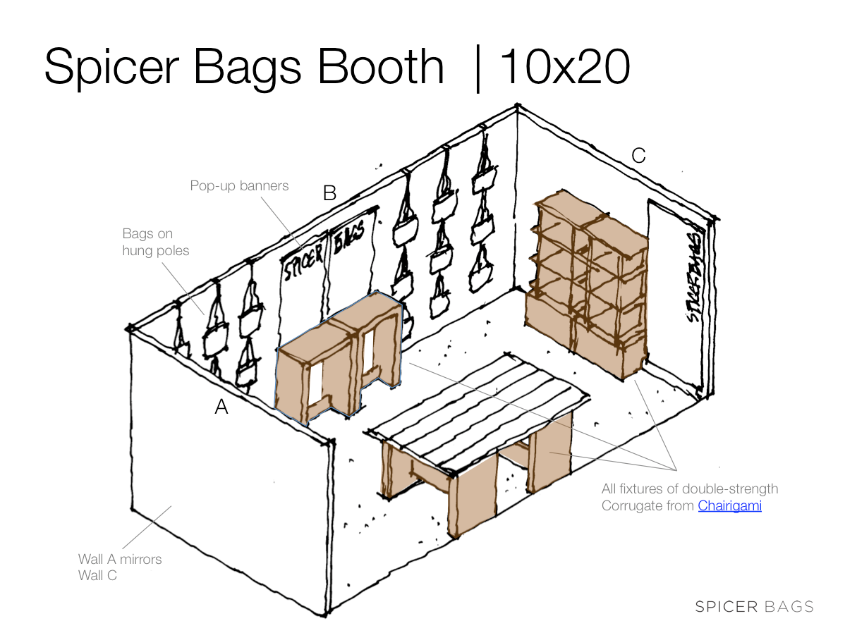 Spicer Bags tradeshow booth design