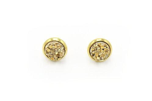 Gold Nugget Druzy Earrings