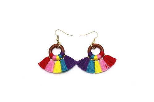 Rainbow Fan Earrings