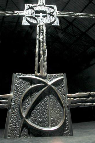 Patinated welded bronze 100x125x30cm