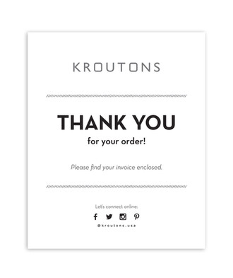 Kroutons thank you note
