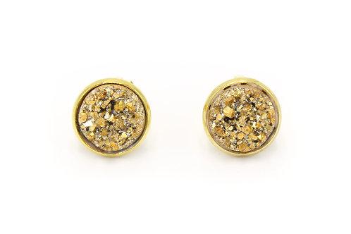 Gold Druzy Clip-on Earring