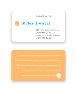 Miles Dental business card