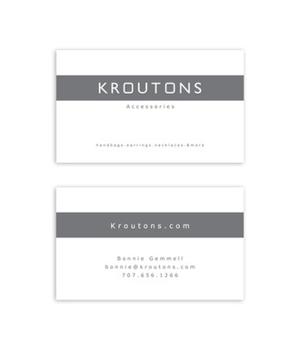 Kroutons business card