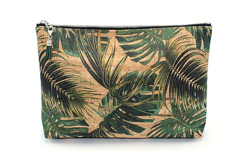 Palm Leaf Cork Carry-It-All Clutch