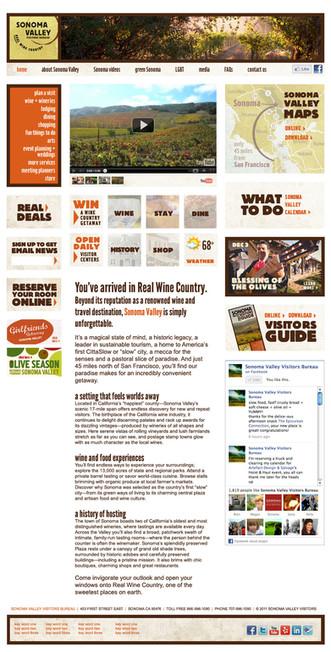 Sonoma Valley Visitors Bureau website