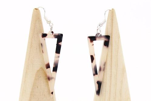 Tortoiseshell Triangle Earrings