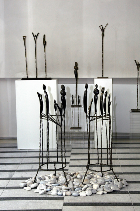 """""""Silhouettes"""" Patinated bronze"""