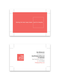 The Space Place business card
