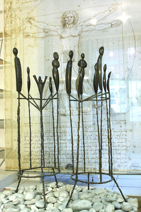 """""""Meeting of another type""""  Patinated bronze"""