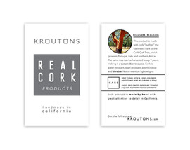 Kroutons bag hangtag