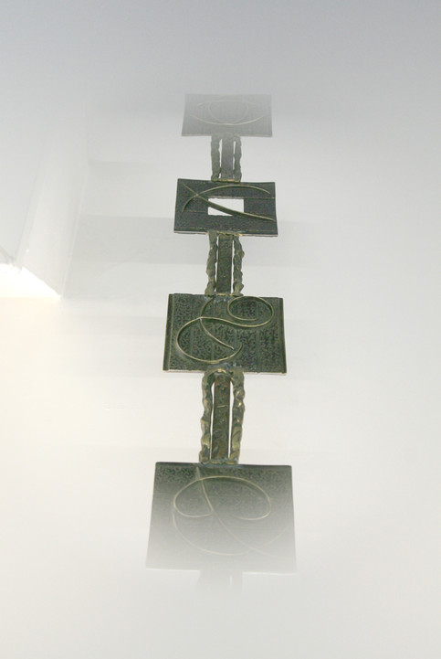 """""""The Space of the Four Seasons""""  Detail - Side 1  Patinated welded bronze 132cm"""