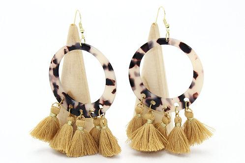 Tortoiseshell Tassel Earrings