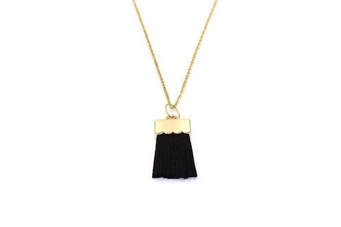 Black Brush Necklace