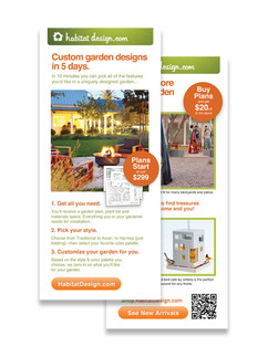 Habitat Design rack card