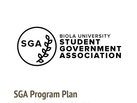 SGA Program Plan