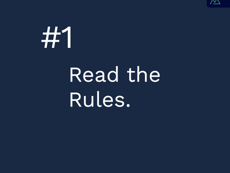 Rule 1 | Read The Rules!