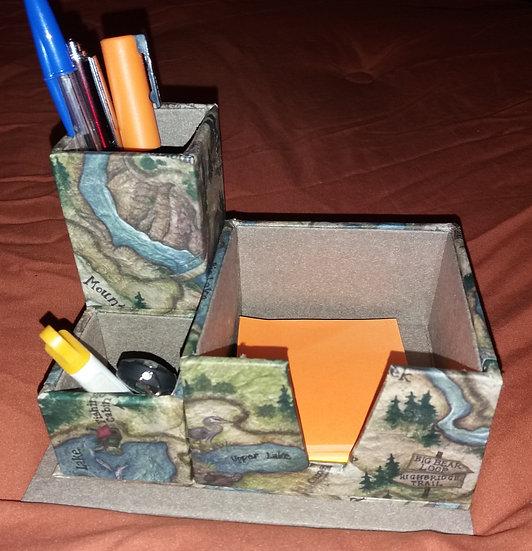 rangement de bureau : post-it, crayons, gomme ou agrafes... 17x12x 12 (haut)