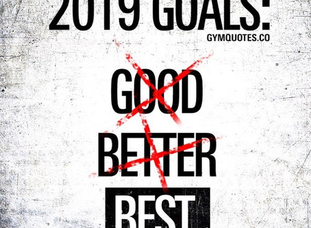 Happy New Year! What are your goals for 2019???