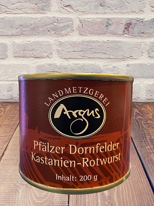 Argus Dornfelder Kastanien Rotwurst 200g
