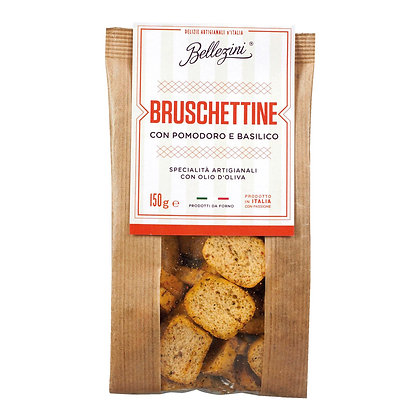 Bruschettine con Pomodoro E Basilico 150g
