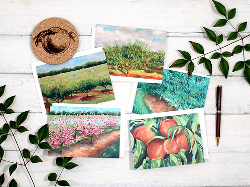 Note Cards: Peach Series