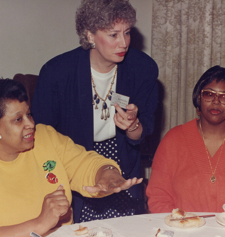 Barb Johns, Kim Figgs, and unidentified