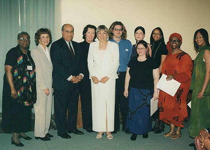2001 McCombs-Currier Awardees with Toi D