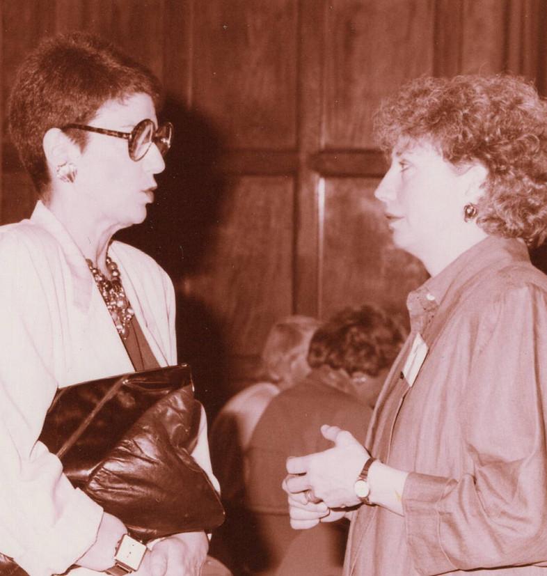 Lynne Schaeffer and Barbara Johns 1989.j