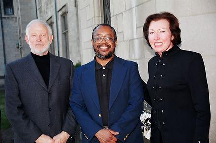 Edward P. Jones with Lillian and Don Bau