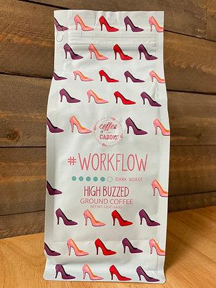 Workflow high buzzed ground coffee