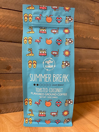 Summer break toasted coconut ground coffee