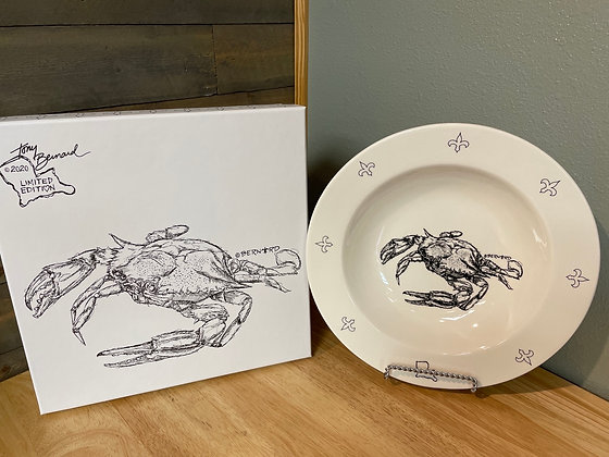 Two bowl boxed set with Crab artist print