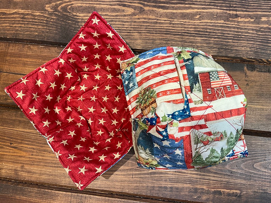 USA themed bowl cozy